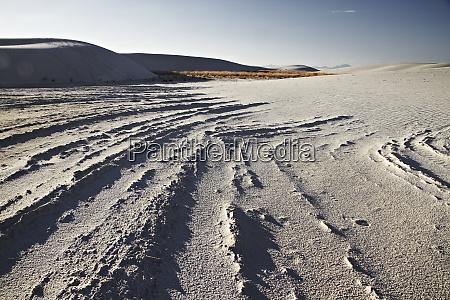 ungewoehnliche weisse sandduenen am white sands