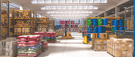 interior of an industrial warehouse where
