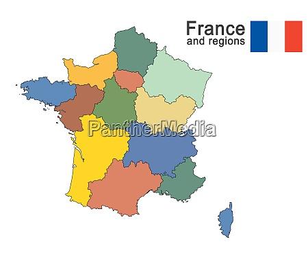 land frankreich und regionen