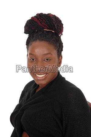 nahaufnahme portraetbild einer jungen afrikanerin