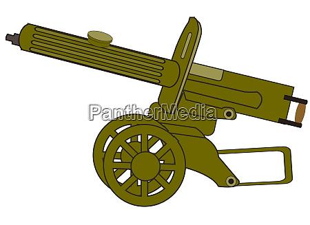 alte zeit sowjetische maschinengewehr max vektor