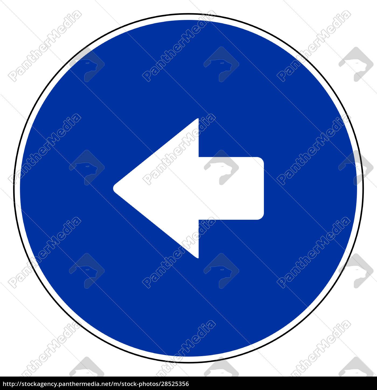 linker, pfeil, und, blaues, zeichen - 28525356