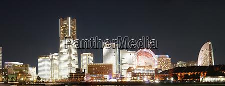 yokohama nachtansicht panorama