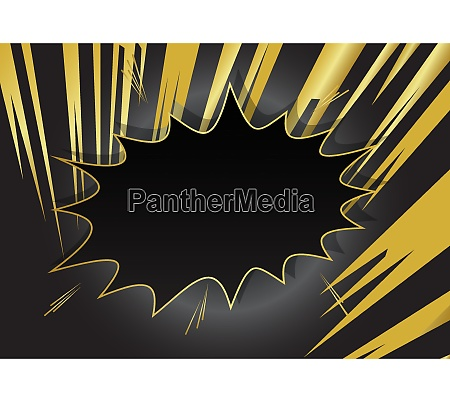 cartoon design gold colored background