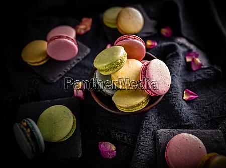 franzoesische mandel meringue cookies