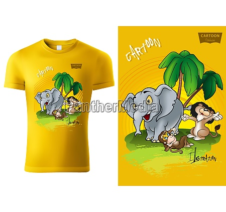 t shirt design with african cartoon