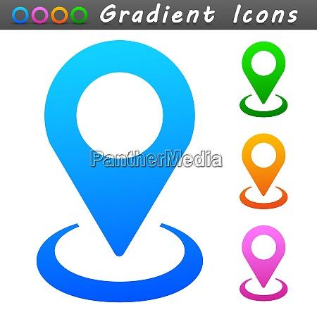 vector map pin symbol icon