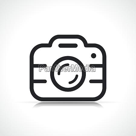 vector camera symbol icon isolated