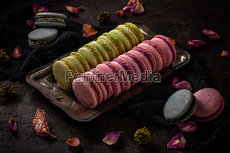 buntes macarons konzept