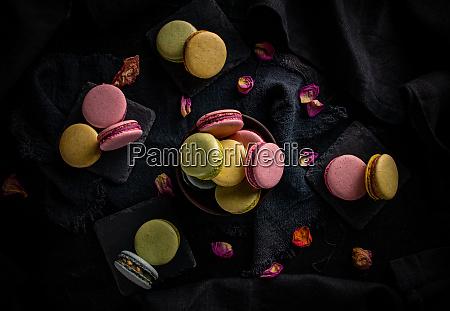 flaches legen von macaron cookies