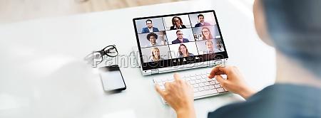 online video konferenz interview anruf