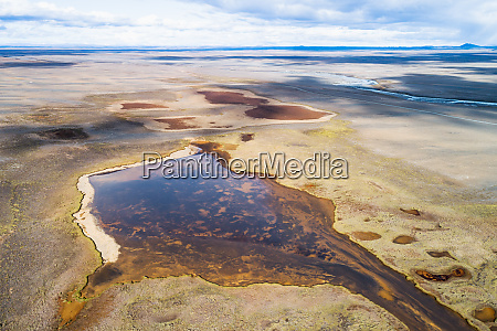 aerial view of lakes along the