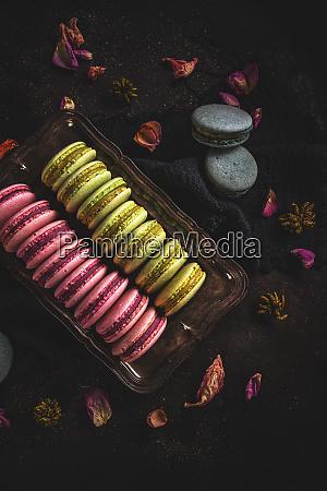 suesse bunte macarons