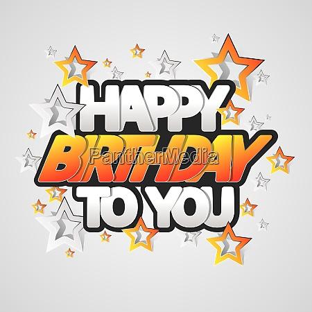 happy birthday greeting card vector illustration