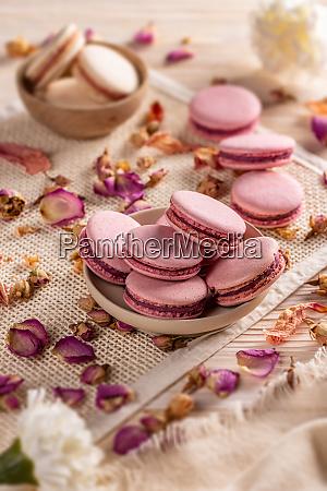 rosa franzoesische macarons