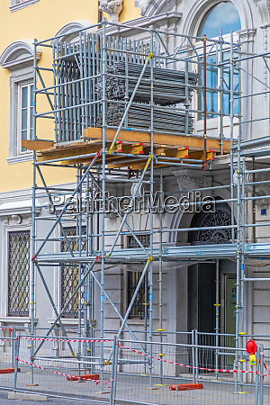 scaffolding construction site