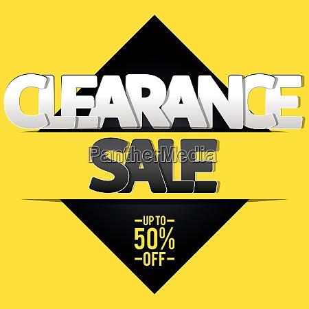 clearance verkauf banner flyer oder poster