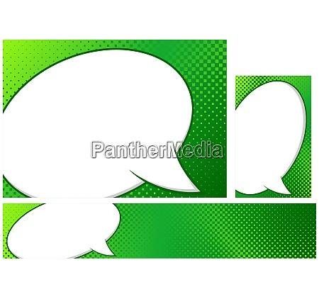 green design with pop art background