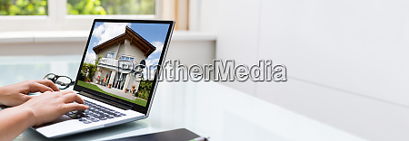looking real estate property online
