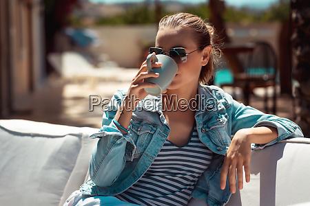 kaffee im freien