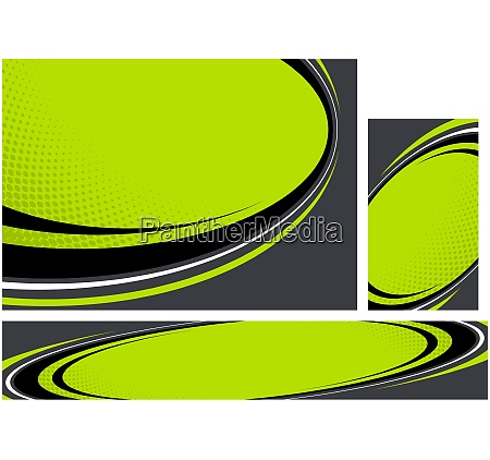 geometric backgrounds with curved shapes