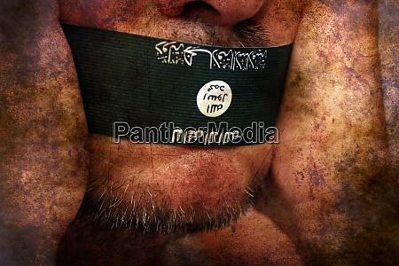 islamischer staat zensur grunge konzept