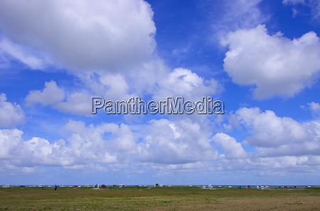 panorama an der nordsee von duenen