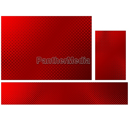abstract halftone background in red colors
