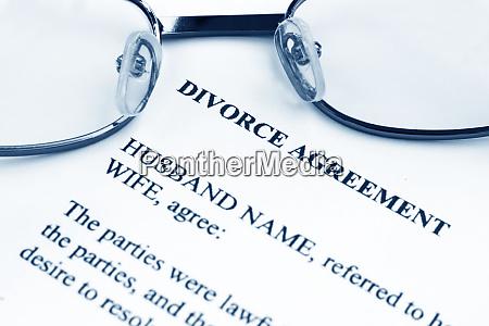 scheidungsvertrag
