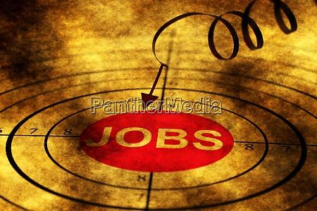 jobs zielen auf grunge konzept