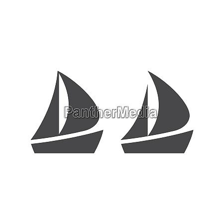 boot oder yacht einfache schwarze vektor