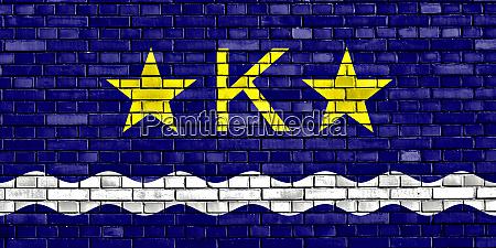flag, of, kinshasa, painted, on, brick - 28579592