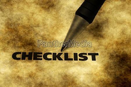checkliste grunge konzept