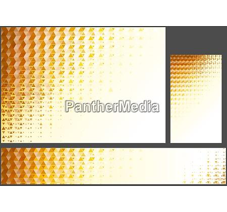 abstract orange polygonal background set