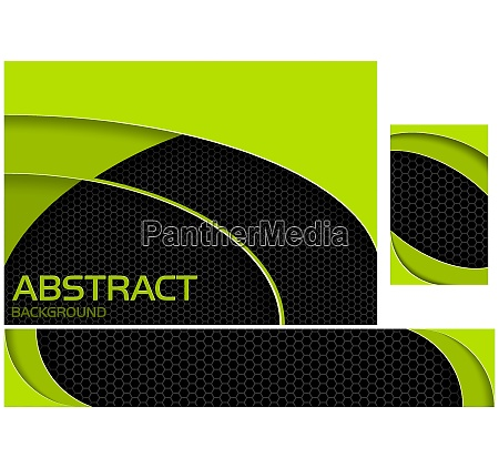 abstract neon green and black tech