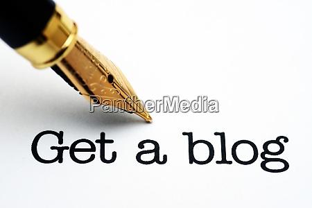 holen sie sich einen blog