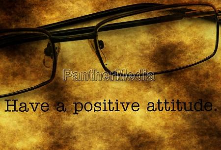 positive einstellung haben