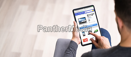 online shop oder shop auf laptop