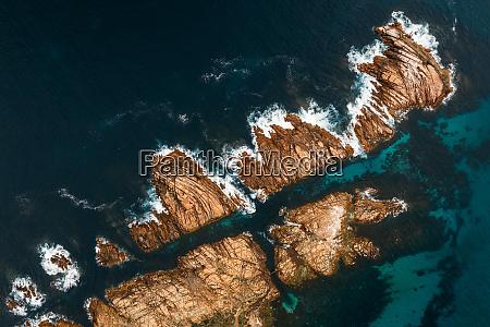 luftaufnahme von canal rocks western australia