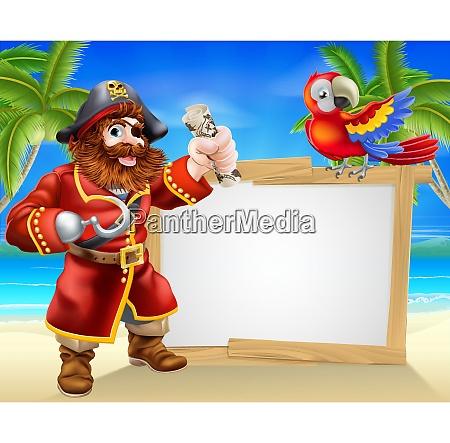 pirate beach sign