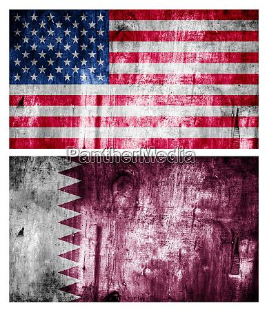 zwei flaggen holz strukturiert beziehungen