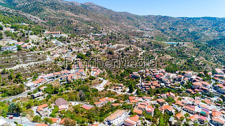 aerial kyperounda village limassol zypern