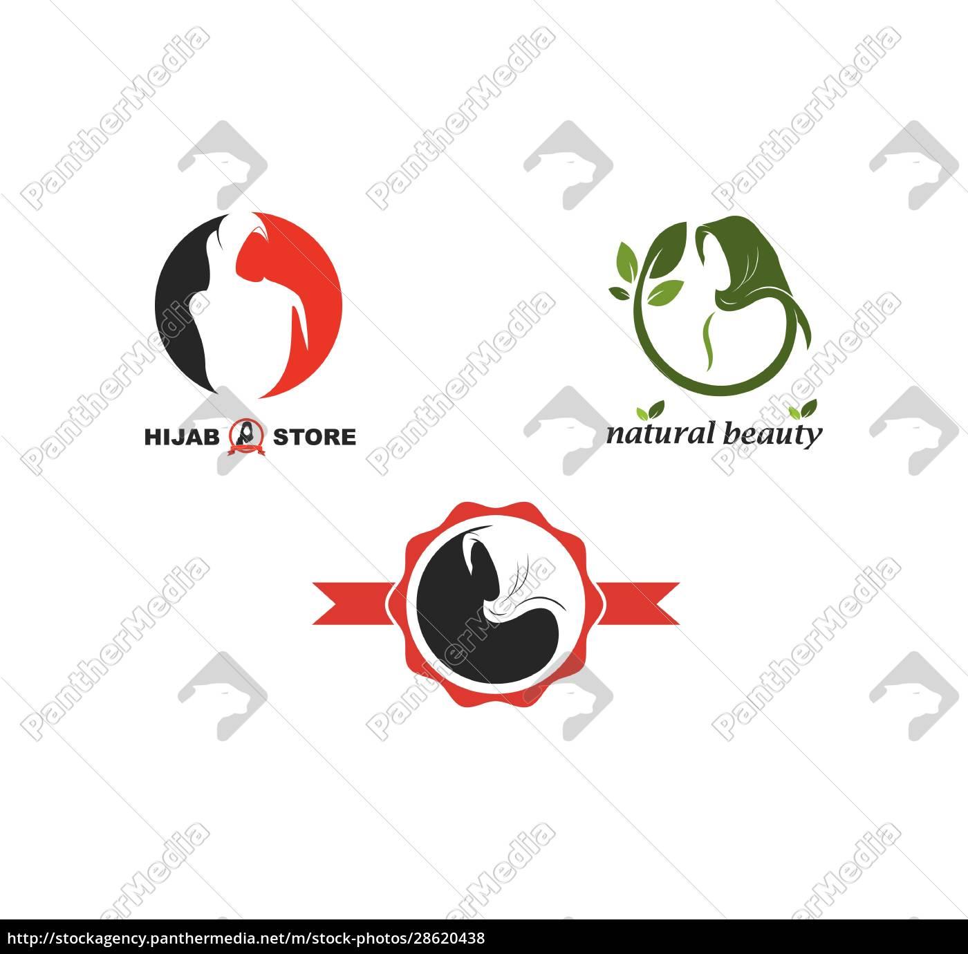 hijab, woman, logo, vector, culture, of, woman - 28620438