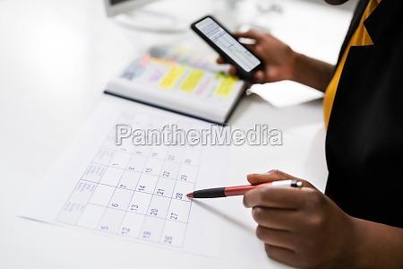 zeitplan fuer die tagesordnungsplanung