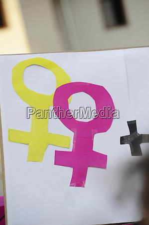 symbol fuer lesben zeichen piktogramm