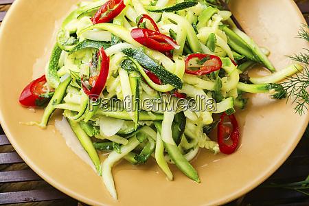 zucchini vegetable salad