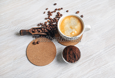 stillleben mit kaffee