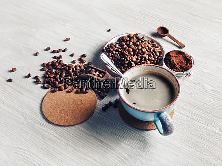 stillleben mit kaffeetasse