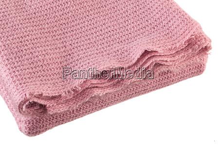 gestrickte rosa decke