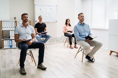 business team meeting oder praesentation